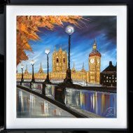 EWR0829 Golden Reflections Of Big Ben 40x40 16 02 18 Framed